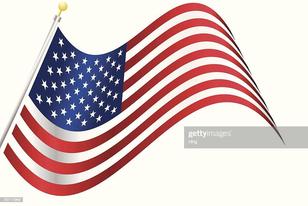 Flying american flag