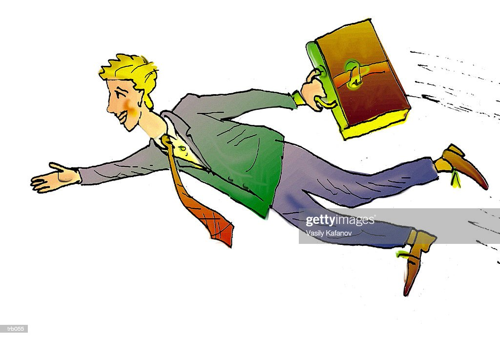 Flying Businessman : Stock Illustration