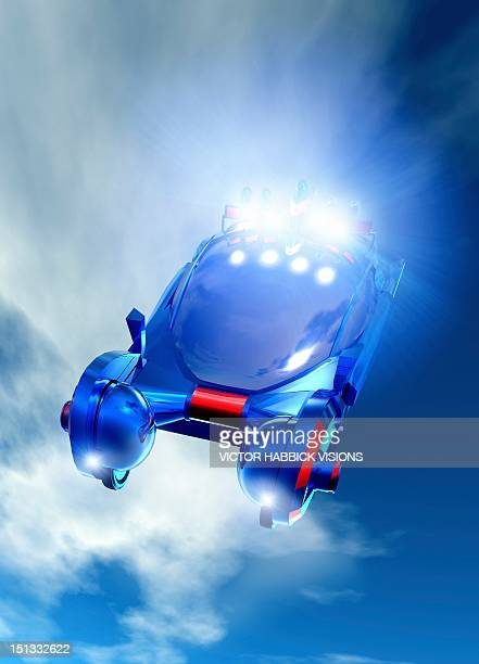 Flying car, artwork