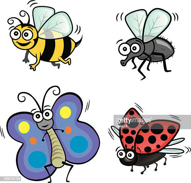flying creatures - bumblebee stock illustrations, clip art, cartoons, & icons