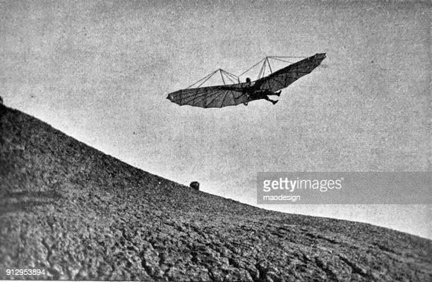 Flying tests on glider - 1896