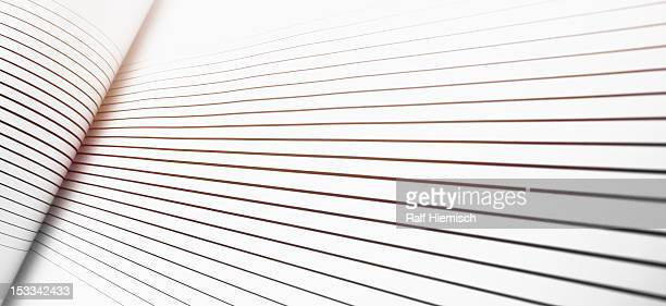 a fold in lines against a white background - colour gradient stock illustrations