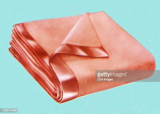 folded blanket - blanket stock illustrations