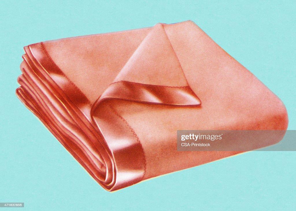 Folded Blanket : stock illustration