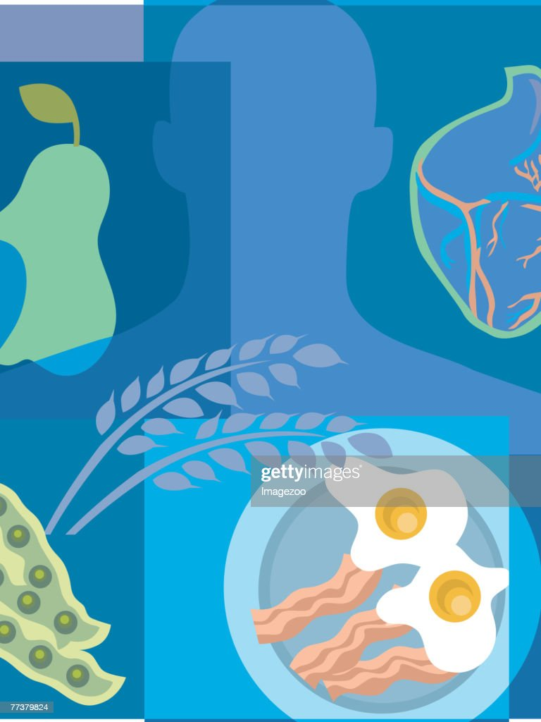 food and your heart : Illustration