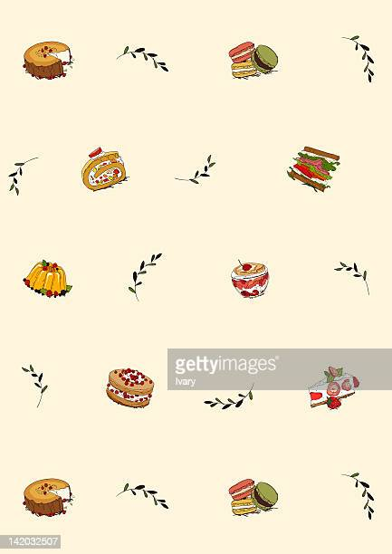 food icon set - macaroon stock illustrations, clip art, cartoons, & icons