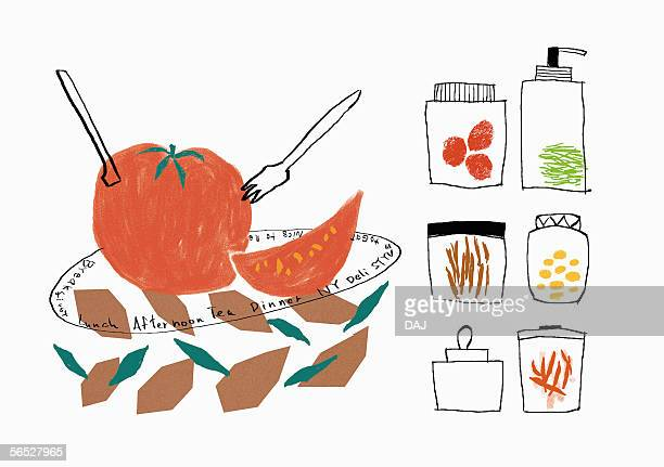 food image - medium group of objects stock illustrations, clip art, cartoons, & icons
