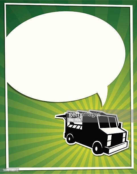 food truck bubble flier