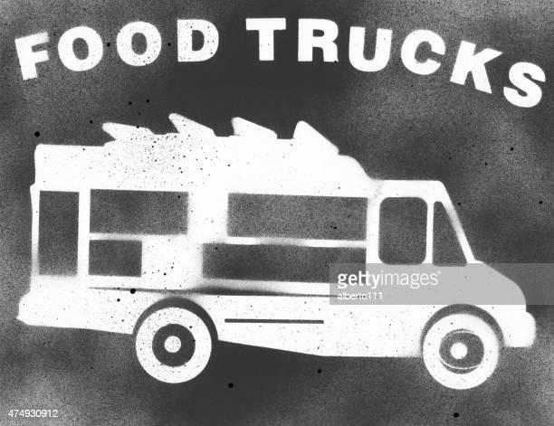 Food Truck Stencil