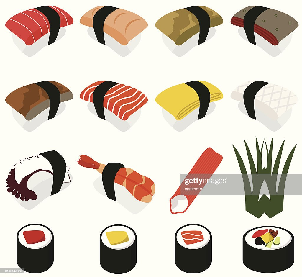 Food vector Icons : Japanese Cuisine - Sushi (set#2)
