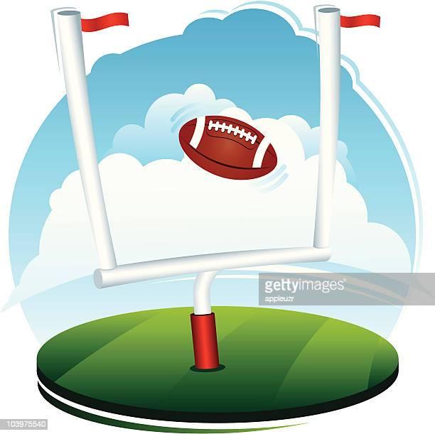 Football and Field Goal Scene