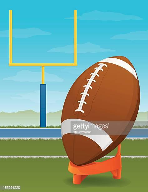 Football and Goal Post