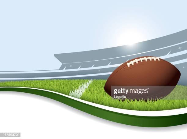 us football background - american football ball stock illustrations
