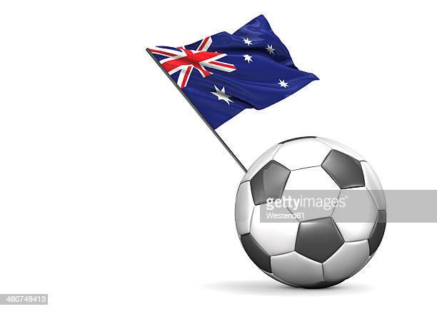 football flag of australia against white background - australian flag stock illustrations