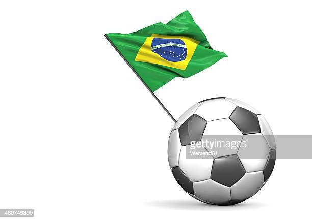 football flag of brazil against white background - national flag stock illustrations