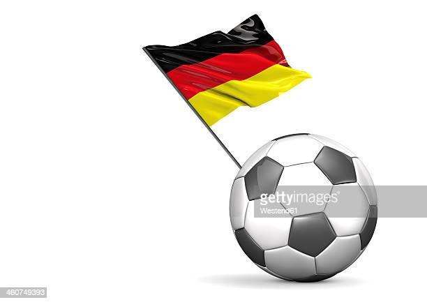 football flag of germany against white background - deutsche flagge stock-grafiken, -clipart, -cartoons und -symbole