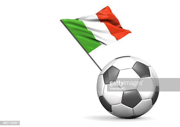 Football Flag Of Italy against white background