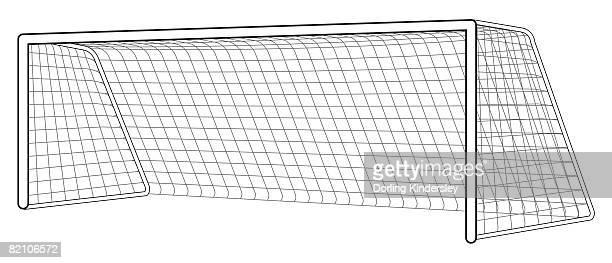 illustrations et dessins anim s de cage de but de football getty images. Black Bedroom Furniture Sets. Home Design Ideas