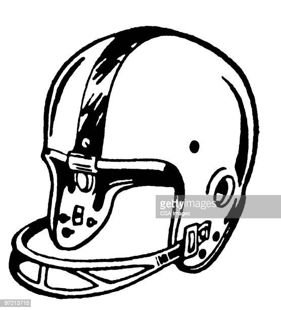 football helmet - helmet stock illustrations