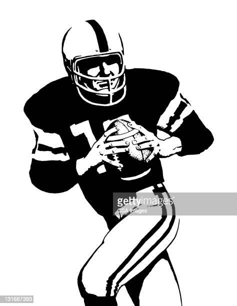 football player - helmet stock illustrations