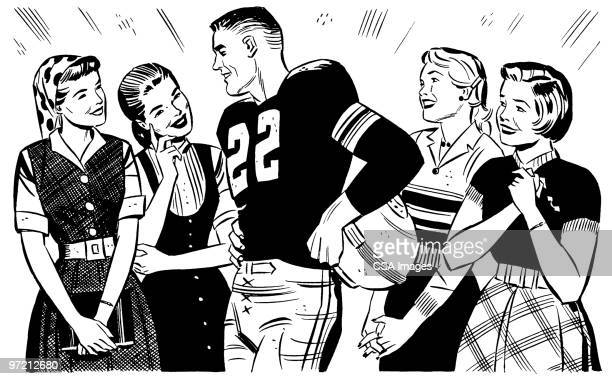 football player - heroes stock illustrations