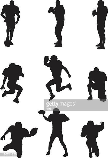 Football players in action