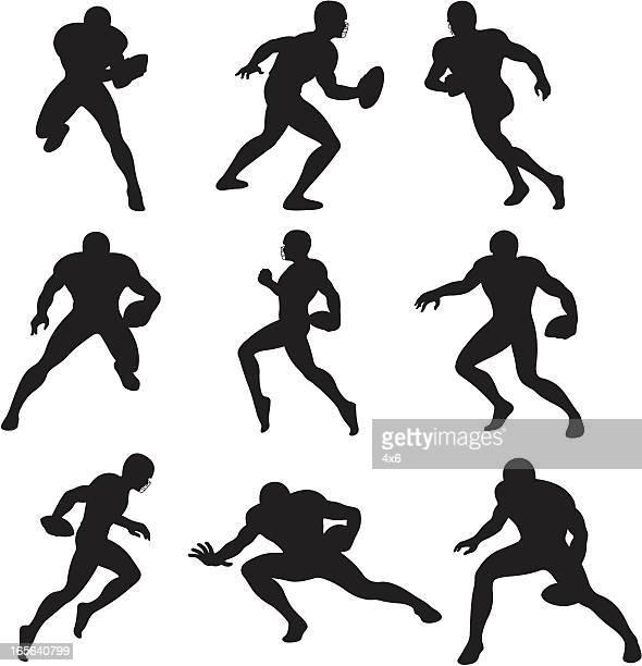 Silhuetas de futebol americano