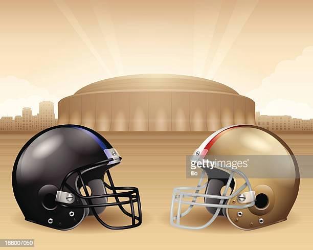 football stadium championship - louisiana superdome stock illustrations