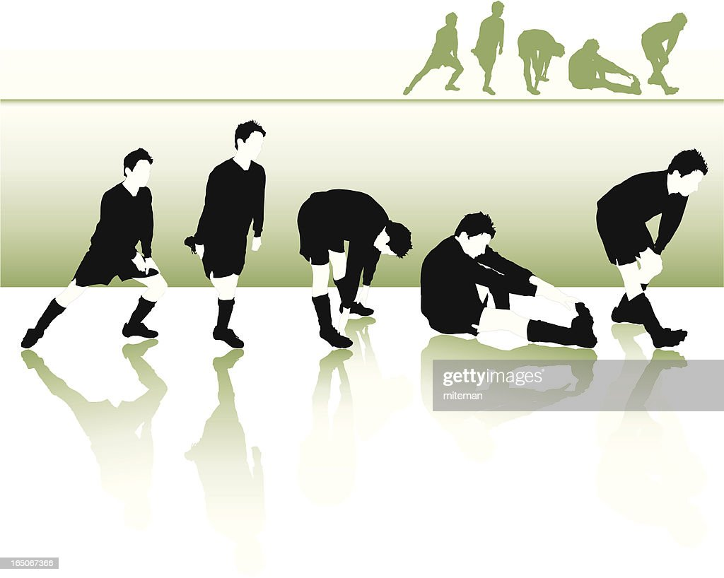Football Stretches : stock illustration