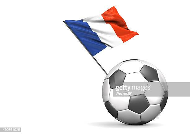 football with flag of france, 3d rendering - france stock illustrations