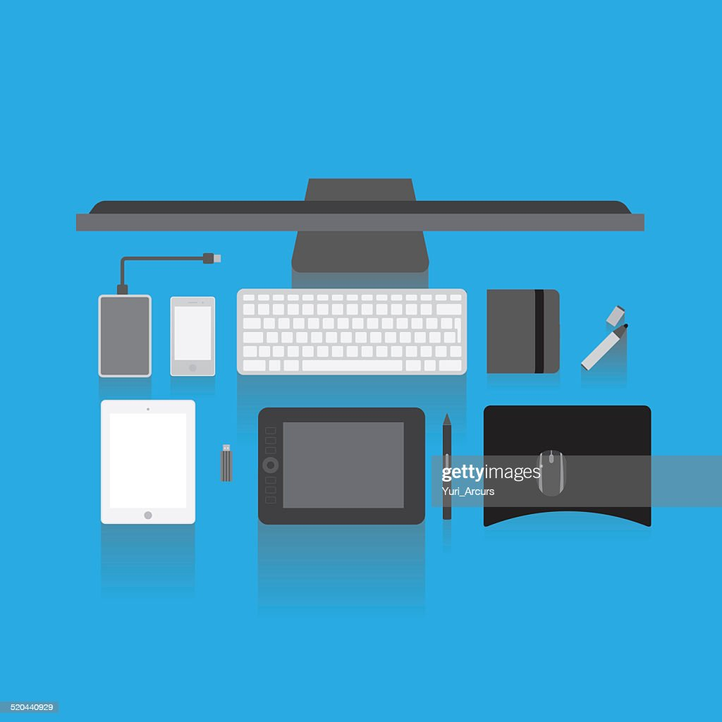 For all your online needs : Stock Illustration