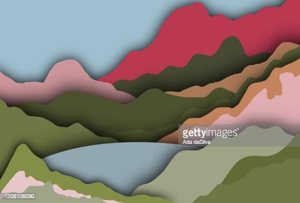 stockillustraties, clipart, cartoons en iconen met bos van kleuren - schoonheid in de natuur