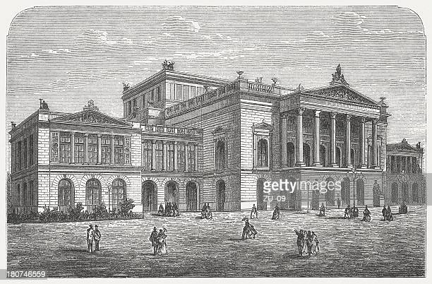 Formerly New Theatre in Leipzig, Germany, built 1781/82, published 1872