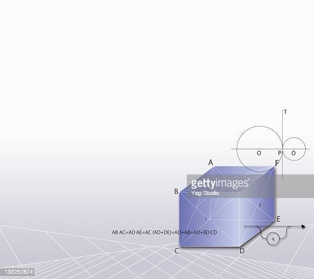 Formula, graph, math symbols