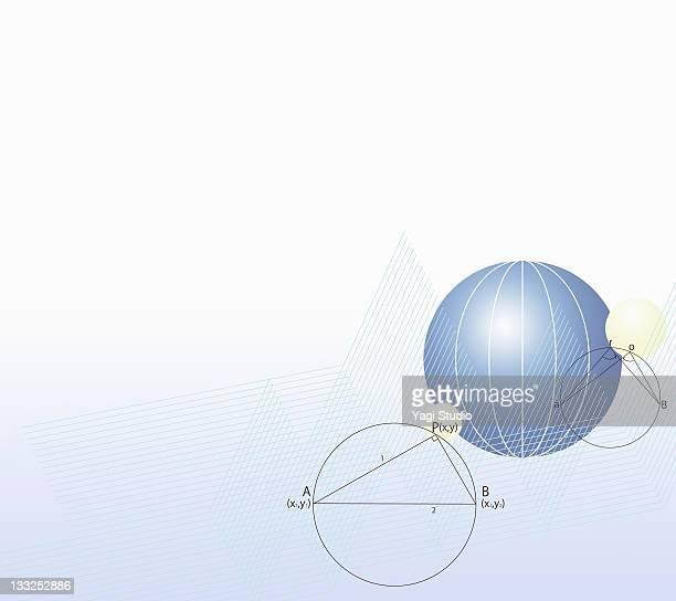 formula, graph, math symbols - capital letter stock illustrations