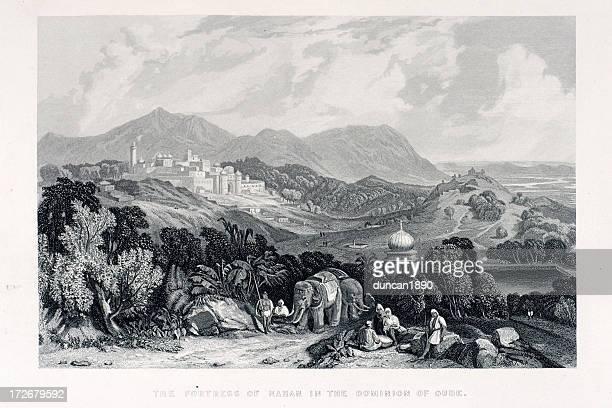 fortress of nahan - ancient civilization stock illustrations, clip art, cartoons, & icons