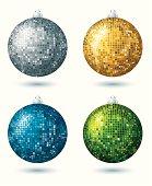 four  disco balls