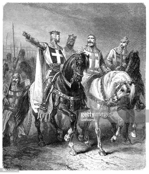 Caballeros de cuatro líderes de la primera ilustración de cruzada 1881