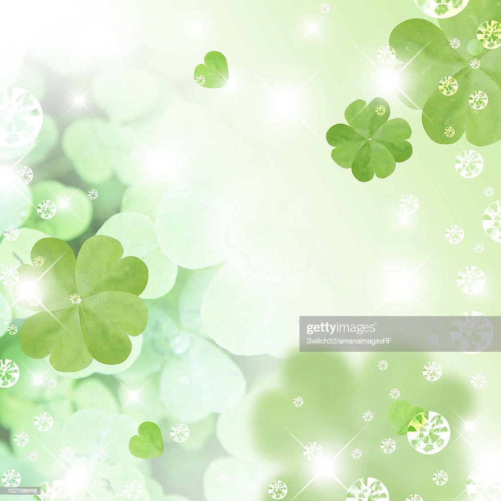 four leaf clover and sequins cg ストックイラストレーション getty