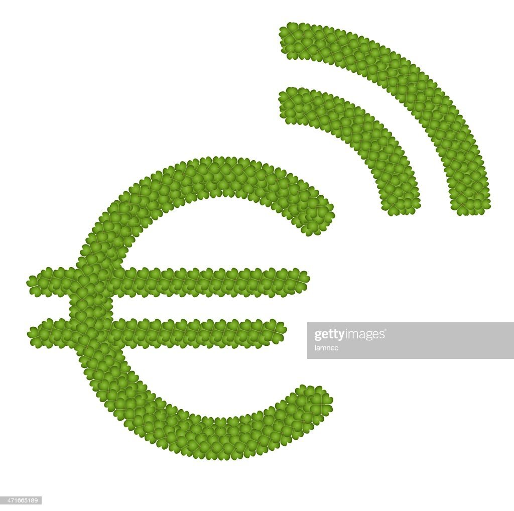 Four Leaf Clover Of Euro Symbol Stock Illustration Getty Images