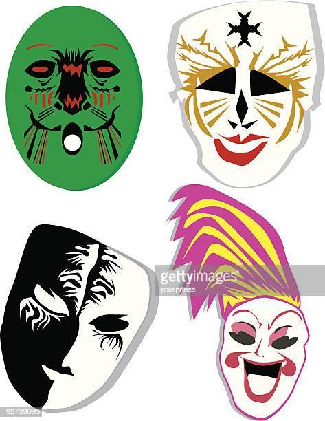 Cuatro máscaras
