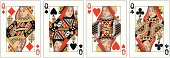 Four Queens Two playing card