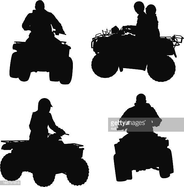 atv four wheeler riding - motorcycle helmet isolated stock illustrations, clip art, cartoons, & icons