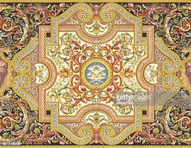 framework louis xiv 17th century - renaissance stock illustrations