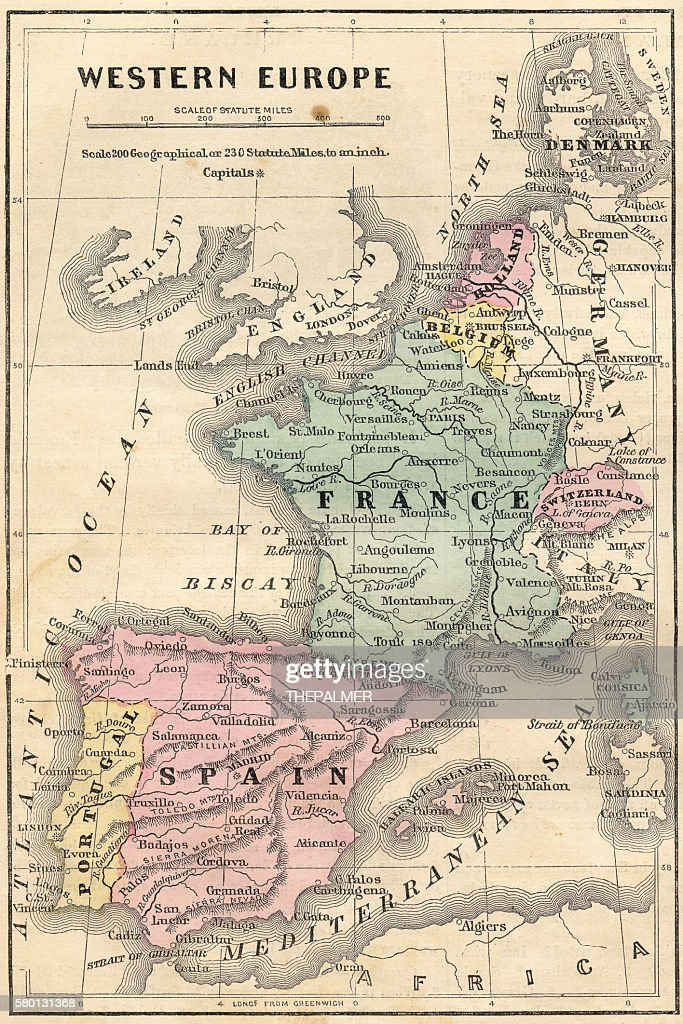 Show Me The Map Of Spain.Map Of Spain Portugal And France
