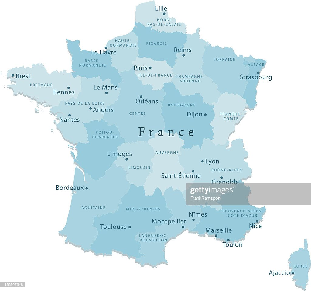 France Map With Regions.France Vector Map Regions Isolated Vector Art Getty Images