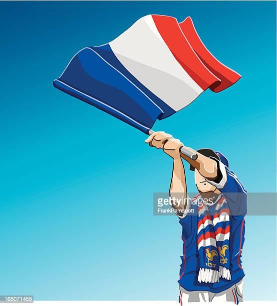France Waving Flag Soccer Fan