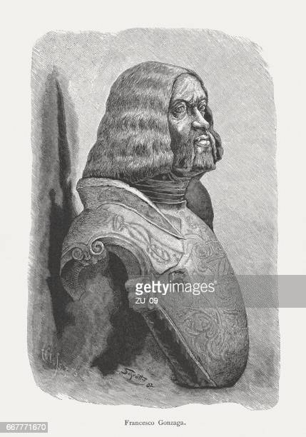 francesco ii gonzaga (1466-1519), terracotta bust, 16th century, mantua, italy - high renaissance stock illustrations