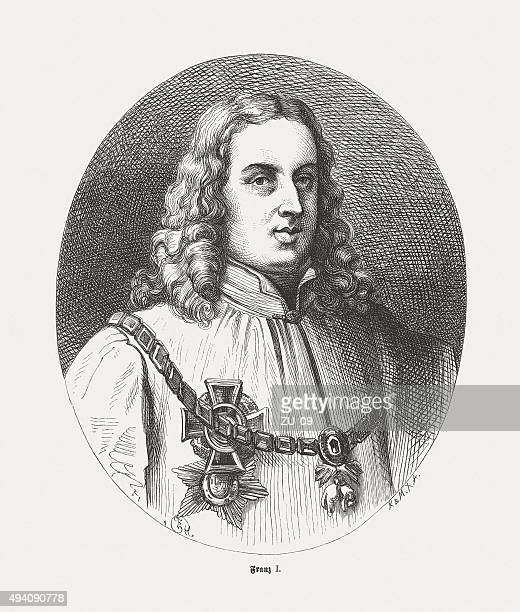 francis i (1708-1765), holy roman emperor, published in 1871 - lorraine stock illustrations, clip art, cartoons, & icons
