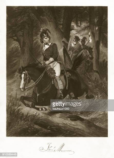 francis marion engraving - governor stock illustrations, clip art, cartoons, & icons